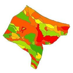 نقشه ی زمین شناسی شهرستان تنکابن